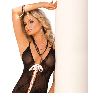 Lace Up Bodystocking