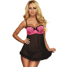MAXIMUM CLEAVAGE BABY DOLL SET
