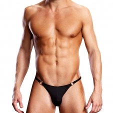 Performance Microfiber Thong with Metal Rings