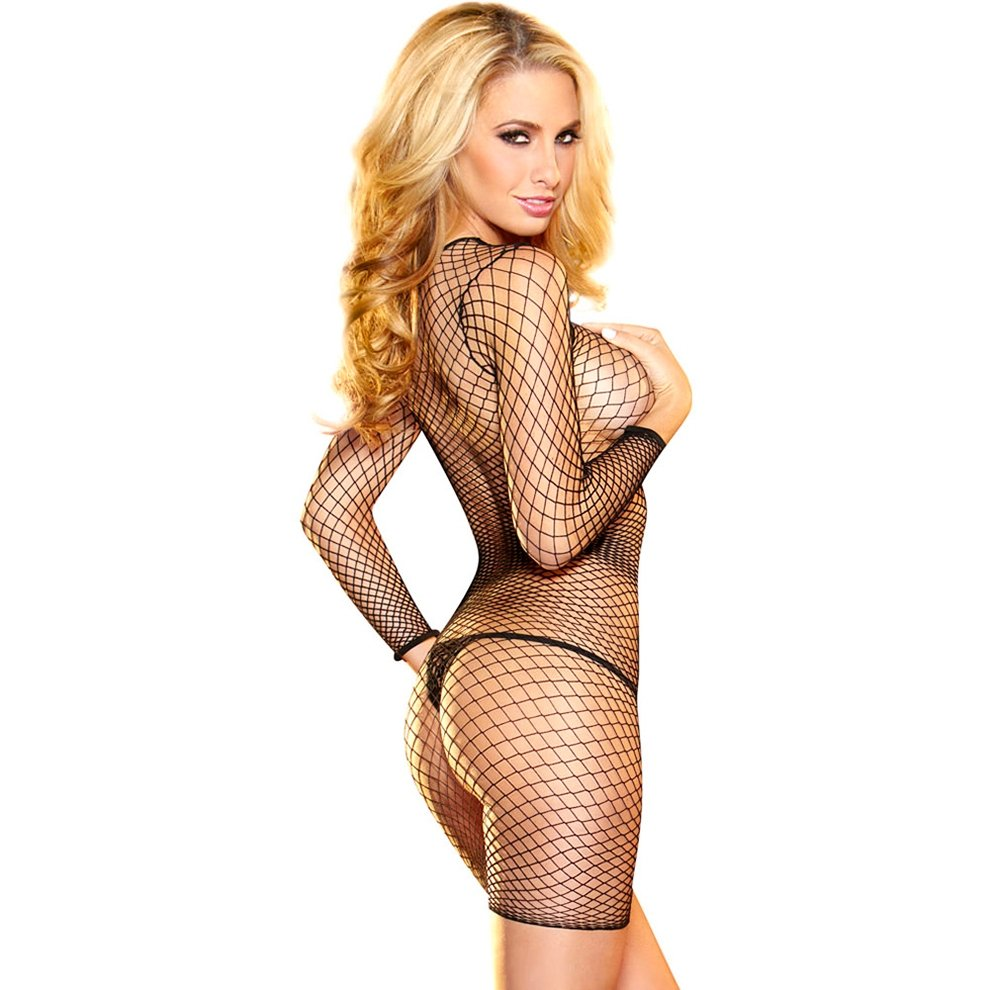 Own dick hustler fishnet tee long sleeve top samodrzky