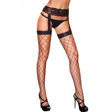 Diamond Net Garter Pantyhose