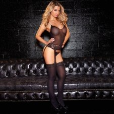 One Piece Lace Bustier W/ Thigh Highs