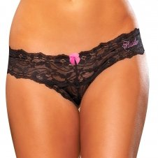 Crotchless Lace Thong