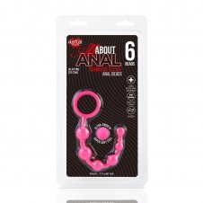 Silicone Anal Beads 6 Balls - Pink