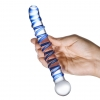 "Mr. Swirly 6.5"" G-Spot Glass Dildo"