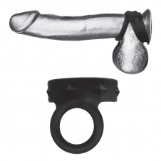 Silicone Duo Snap Cock & Ball Ring
