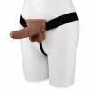 """6"""" Rechargeable Strap-on With Balls - Brown"""